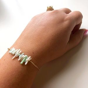 Jewelry - ⭐️SALE⭐️ Delicate, Gold Plated, Jade Bracelet